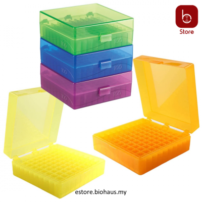 [Heathrow Scientific] HS 100-Well Hinged Storage Box, pk5