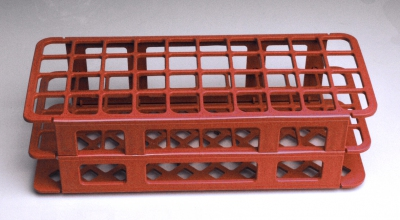 Test tube rack for 20-21mm test tubes, 40 place. Red