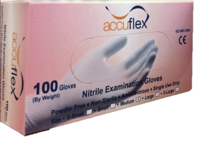 [Accuflex] Powder Free Nitrile Examination Gloves
