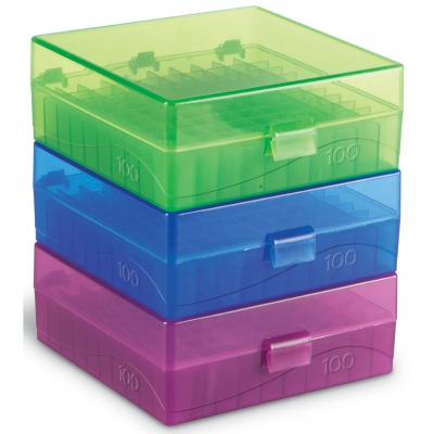 HS 100-Well Hinged Storage Box, pk5