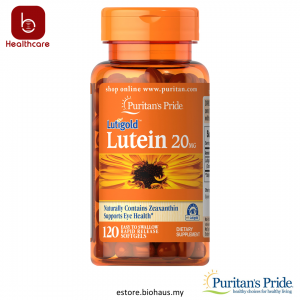 [Puritan's Pride] Lutein 20 mg with Zeaxanthin, 120 Softgels - Supports Healthy Eyes and Vision