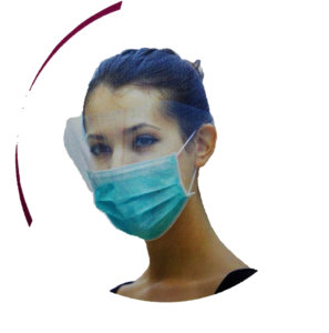 Face Mask With Anti-Fog (Blue, Ear-Loop)