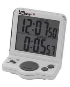 Lab Alert® Big Digit Dual Timer Clock