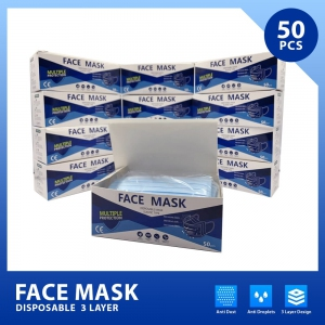 Disposable 3ply Face Mask [5 boxes, BUY NOW ship by 15th April]