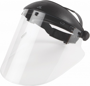 "Tempshield Faceshield with 10"" x 20"" x .060"" replaceable injection-molded clear shield"