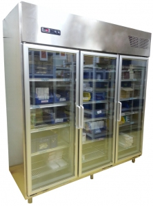 Laboratory Stainless Steel 3-Glass Door Chiller