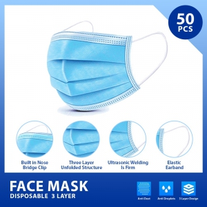 [READY STOCK] Disposable 3 Ply Face Mask