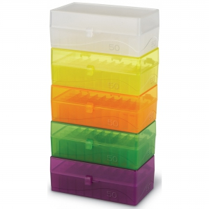 HS 50-Well Hinged Storage Box ,pk5, assorted colours