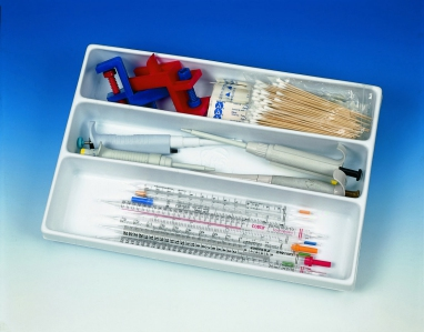 [Heathrow Scientific] HS 3-Compartment Tray, Polystyrene