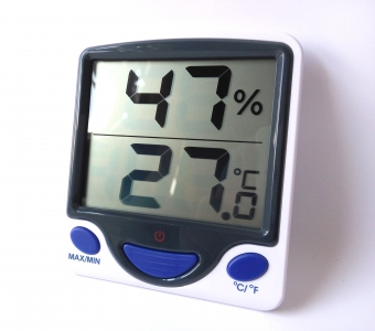 Min-Max Fridge OR Room Temperature + Humidity, Jumbo Display, Digital Thermo Hygrometer
