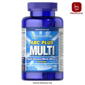 [Puritan's Pride] ABC Plus Multivitamin and Multi-Mineral Formula, 100 Caplets (Vitamins & minerals for healthy lifestyle)