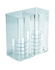[Heathrow Scientific] HS Petri Dish Dispenser Acrylic
