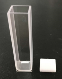 Standard fluorometer Cuvette with lid, 1pair