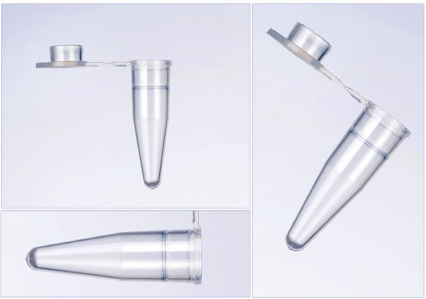 0.2mL Single PCR Tubes, Flat-Cap