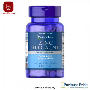 [Puritan's Pride] Zinc for Acne, 100 Tablets, For Clearer Skin