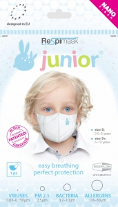 Respilon ReSpimask, Nano-Fiber Facemask (Junior)