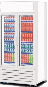 Imported 2-Glass Door Display Chiller Refrigerator